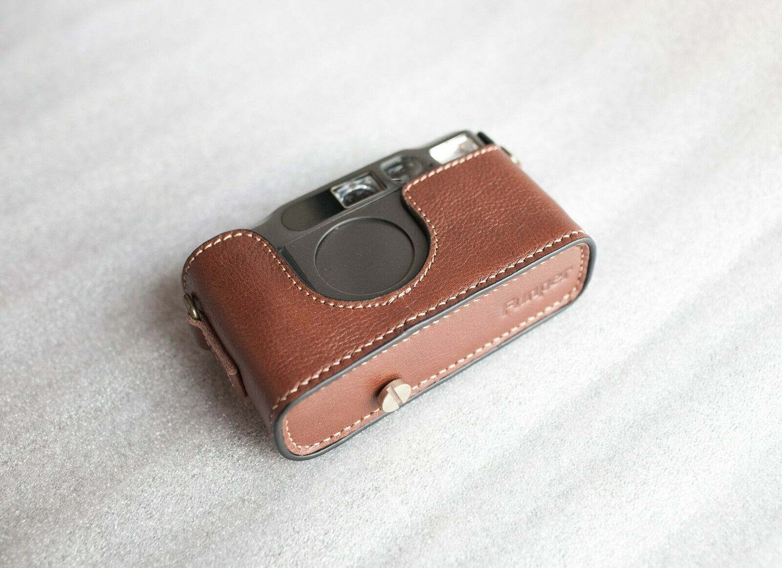 Handmade Genuine Real Leather Half Camera Case Bag Cover for Contax T2 Camera
