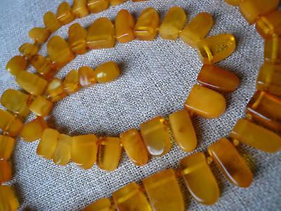20,2 IN Vintage Antique Polished Baltic Amber Necklace