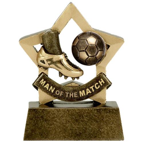 80 mm Mini Star Homme du Match trophée A1698 GW Gravure Gratuite