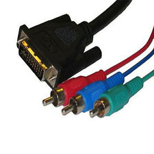6Ft High Performance DVI to 3RCA RGB Component Video Cable