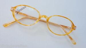 Oval Gold Gormanns Damenbrille Kunststoff Honigfarben Klein Decor 46-17 Size S