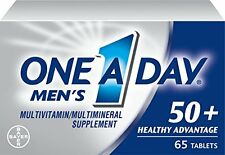 2 Pack - One A Day Men's 50+ Advantage Multivitamins, 65 Each
