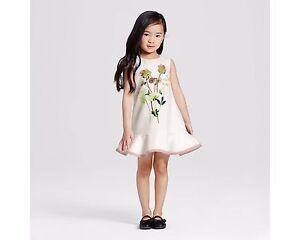 9356f536294cbb NEW VICTORIA BECKHAM TARGET 3T 4T Toddler's Girls Floral Ruffle Hem ...