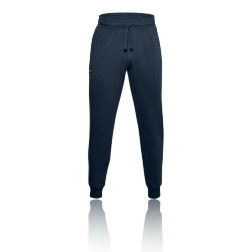 Under Armour Womens Rival Fleece Joggers Blue Sports Running Gym Breathable