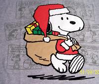 Snoopy As Santa Claus Grey Tshirt Size Xl Only