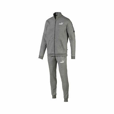 Puma Men/'s Amplified Sweat Suit CL Tracksuit 580489 Medium Grey Heather Bnwt New