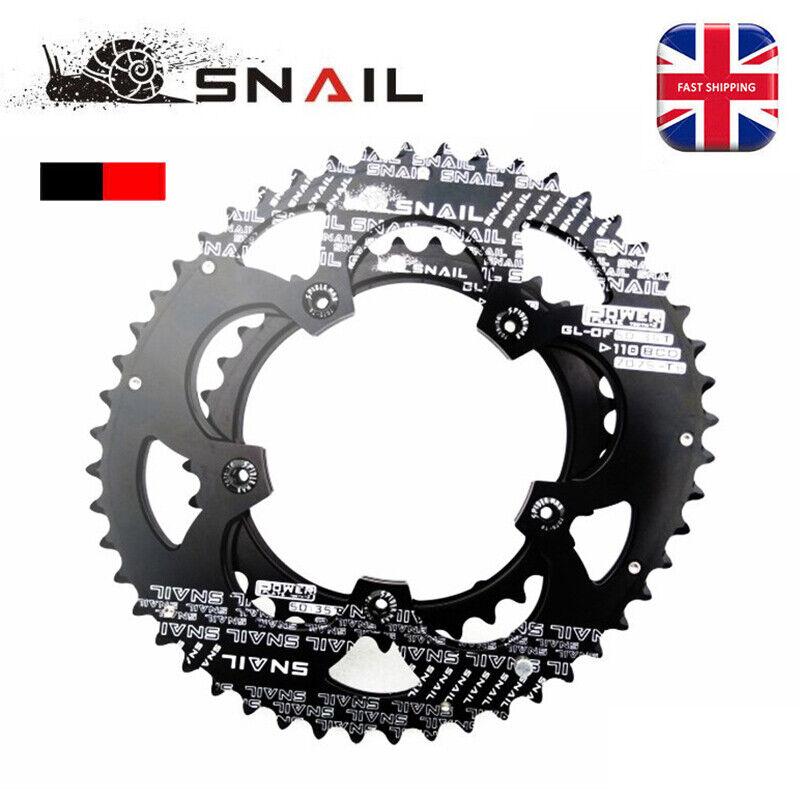 UK 50T  35T 110BCD Doble Velocidad Bicicleta De Montaña Bici Oval Plato pedalier Pernos Negro Rojo  con 60% de descuento
