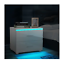 high gloss modern bedside table rgb led light nightstand 2 drawers white