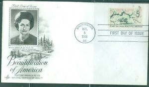 US-FDC 1318a TAGGED BEAUTIFI AMERICA CANCL.WASHINGTON DC.OCT.5-1966 not ADDR.