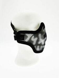 Maschera-Tactical-Metallo-Skull-FaceTeschio-Nera-Royal