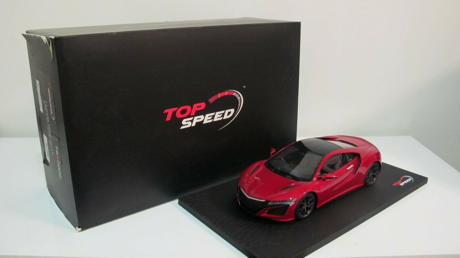 1 18 TSM TOP SPEED MODEL HONDA NSX COUPE RED LHD RESIN CARS