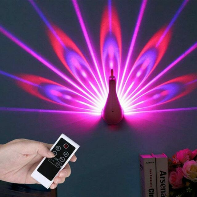 Night Light Pea Lamp Projection Remote Control Lighting Home Decoration