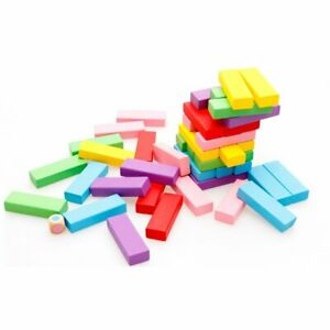 48-pcs-Multicolored-Wooden-Rainbow-High-Stacking-Safe-Toy-For-Childrens-Game-NM