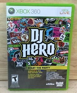 DJ HERO Start The Party / XBOX 360 Video Game / Disc Manual & Case / Complete