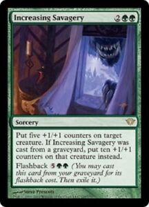 MTG Magic the Gathering Card X1 Increasing Savagery Dark Ascension EX//NM