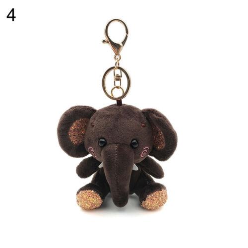 Muñeco De Peluche Peluche Elefante Mini Colgante Llavero Llavero Titular Bolsa Decoración Joy
