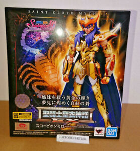 Bandai-Saint-Seiya-Cloth-myth-EX-Scorpio-Milo-SAINTIA-SHO-COLOR-Action-Figure