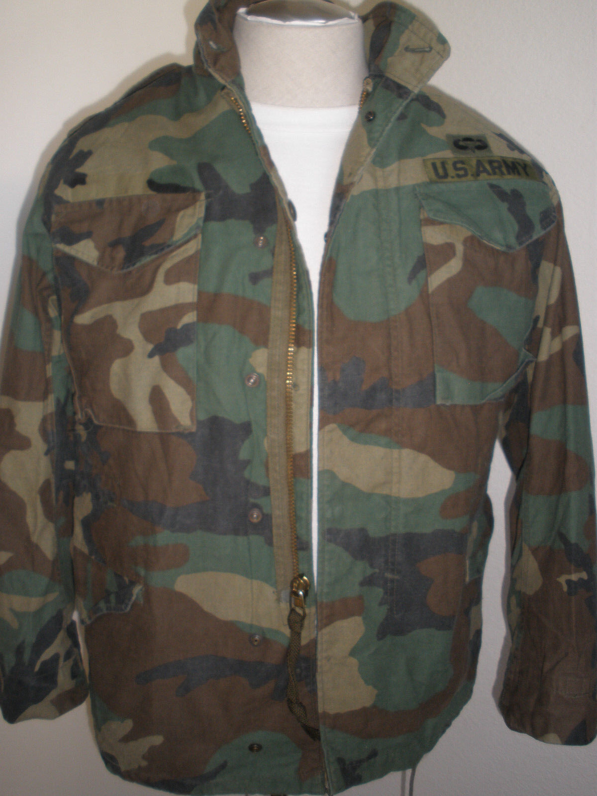 @ WINFIELD US ARMY AIRBORNE CAMO FIELD COAT COLD WEATHER MEN SIZE S- REG.