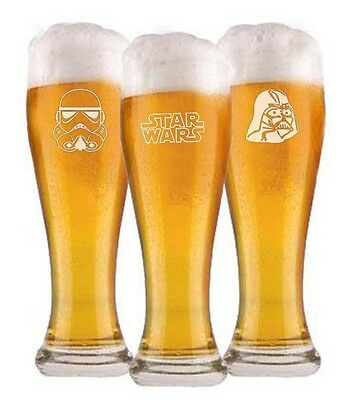Star Wars pilsner beer Glasses groomsman wedding gift Engraved  FREE Starwars