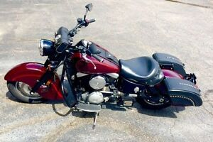 Details About Saddleline Kawasaki Drifter 1500 Hard Body Leather Saddlebags Lockable Brand