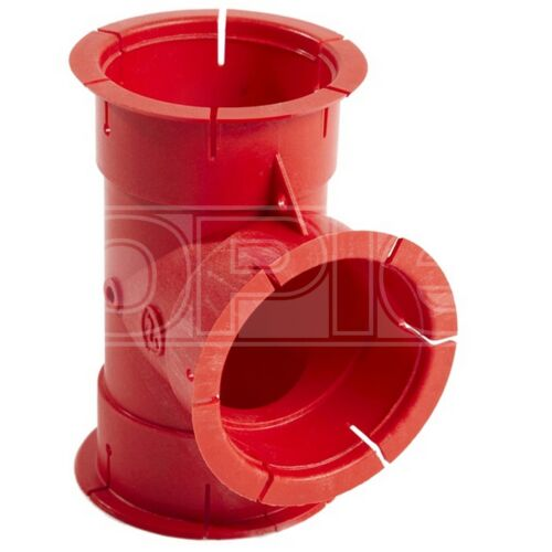 Red DX6503B T Piece Whale Duct Fitting