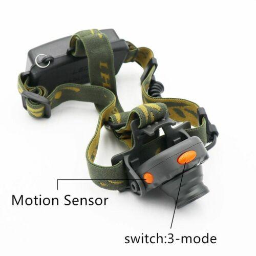 IR Sensor LED Headlight 100M Distance Headlamp Lantern Camping Hunting Fishing