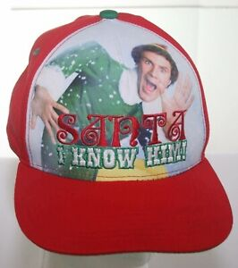 Will Ferrell Christmas Movie.Details About Buddy The Elf Christmas Movie Hat Will Ferrell Santa I Know Him Snapback Cap