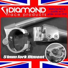 DIAMOND RACE PRODUCTS - 51MM MOTORCYCLE PIVOT FIT CLIP ON HANDLEBARS KIT SET