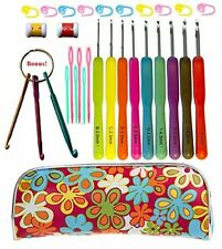 Hook Set Ergonomic Grip Crochet Hooks Kit Crochet Hook Case Organizer New