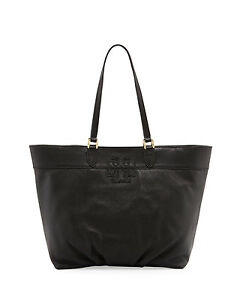 1bb56e5d02c2 NEW  475 Tory Burch East-West Stacked-T Logo Tote Bag Pebbled ...