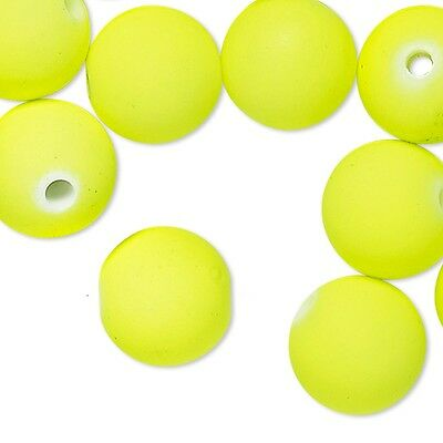 64 Big Bright Neon Colored 14mm Round Plastic Acrylic Beads With 2.5mm Hole
