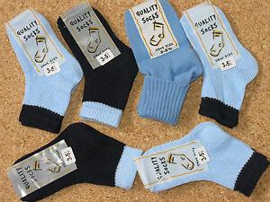 Bien 6 Paires Bébé Garçons Chaussettes Sky/bleu Marine Pointure 3-5.5-afficher Le Titre D'origine Promouvoir La Santé Et GuéRir Les Maladies