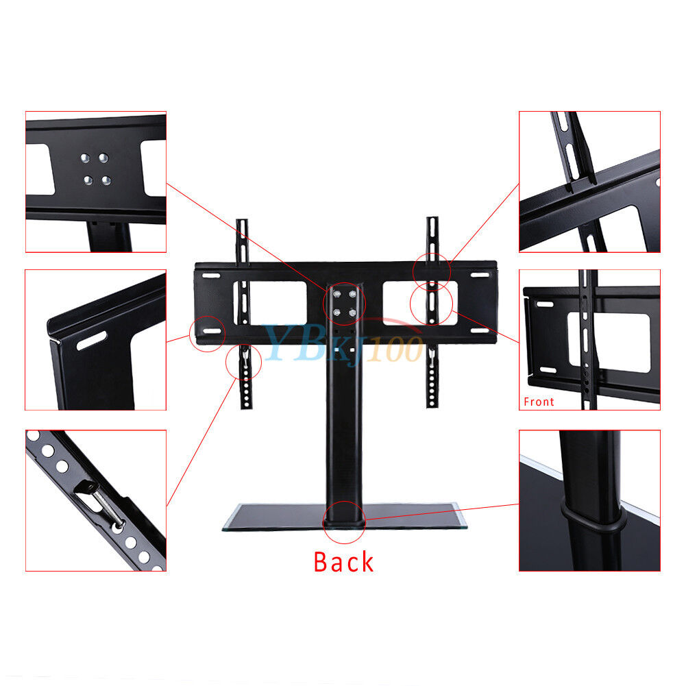 26 32 37 55 universal tv stand base tabletop tv stand with wall mount usa ebay. Black Bedroom Furniture Sets. Home Design Ideas