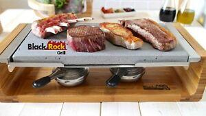 hot cooking stone steak set table top dinner rock grill sizzling griddle plate ebay. Black Bedroom Furniture Sets. Home Design Ideas