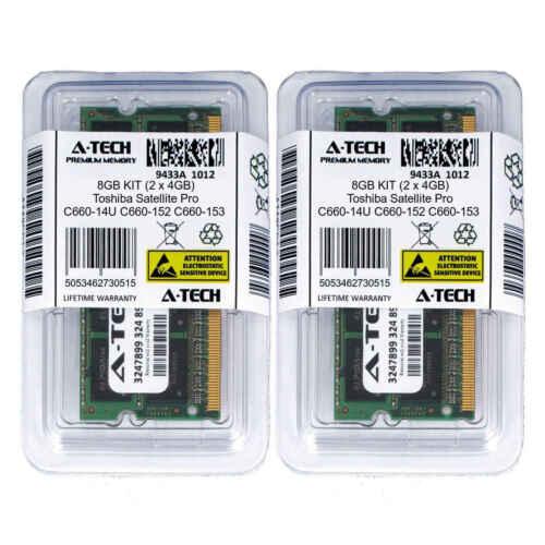 8GB KIT 2 x 4GB Toshiba Satellite Pro C660-14U C660-152 C660-153 Ram Memory