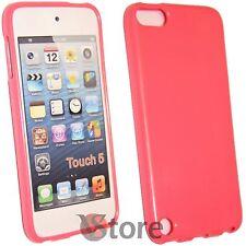 Cover Custodia Per iPod 5 Fucsia Rosa Silicone Gel + Pellicola Salva Display