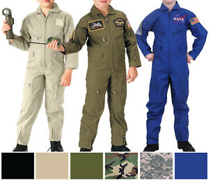 951c5f6ed2f Kids Air Force Pilot Flight Suit Military Coveralls Camo Tactical ...