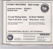 (FT232) Low Flying Owls / Gram Rabbit, Split Single - 2004 DJ CD