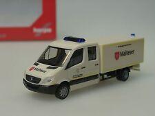 """Herpa Mercedes Sprinter DoKa mit Koffer GW-San """"Malteser"""" - 092951 - 1/87"""