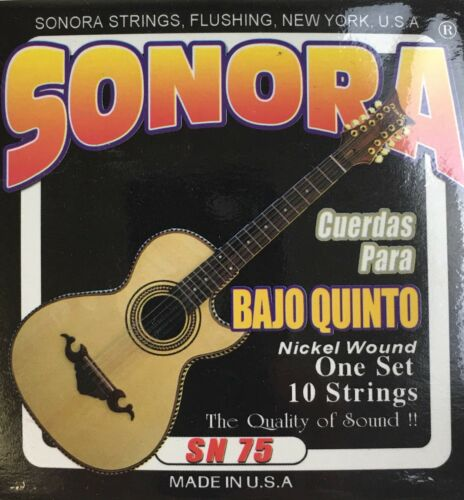 Sonora Juego De Cuerdas Para Bajo Quinto Set Of Strings For Bajo Quinto Guitar.