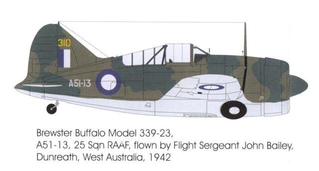 1/48 RAAF DECALS; Brewster Model 339C Buffalo, No.25 SQN