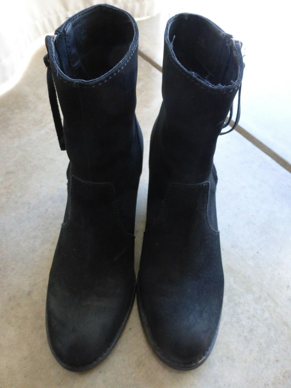 Beautiful Black Suede Booties from Aldo womens size 38 US 7.5