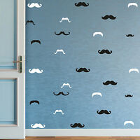 Vinyl Wall Stickers Decals - DIY - Black & White Mustaches