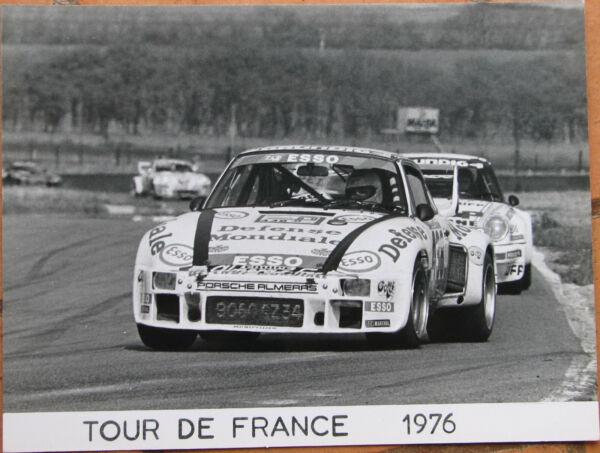 410 . 1 X Photo . Porsche . Tour De France . 1976 . Format : 18 X 24 Cm . Mooi En Kleurrijk