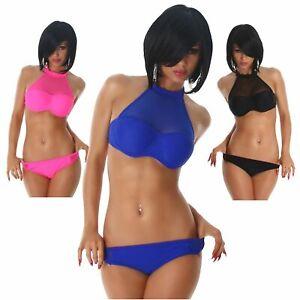 18d82aa4d7ba8f Das Bild wird geladen Neckholder-Bikini-Beachwear-Sommer-Strand-Sexy- Bademode-elegant-