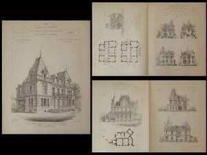 Ensoleillé Villa Grenoble - Gravures 1900 - Demartiny Coutavoz, Saint Thierry Reims