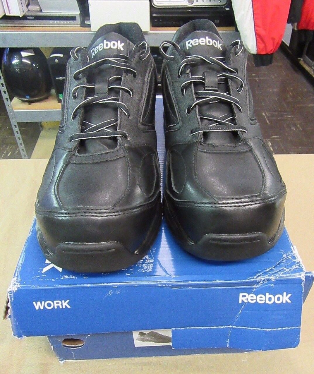 New Reebok RB4490 hommes Taille 10.5 Chaussures Senexis Classic Oxford noir Comp Toe