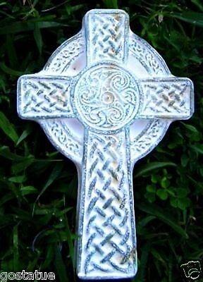 Gostatue mould plaster concrete poly plastic celtic cross mold