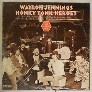 Waylon-Jennings-Honky-Tonk-Heroes-1973-US-1st-Press-APL1-0240-LP-NM-Vinyl-RARE