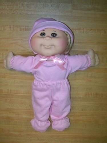 "LT BLUE or PINK KNIT CAP SHIRT PANT BABY for 10 11/"" CPK Cabbage Patch Kids"